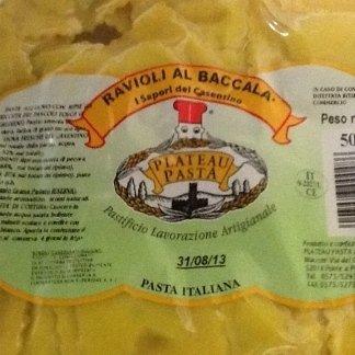 Specialità ravioli al baccalà