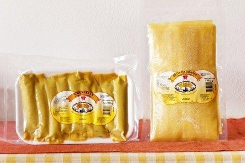 Crespelle ripiene e pasta per lasagne