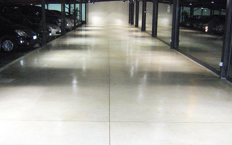 pavimento industriale protetto