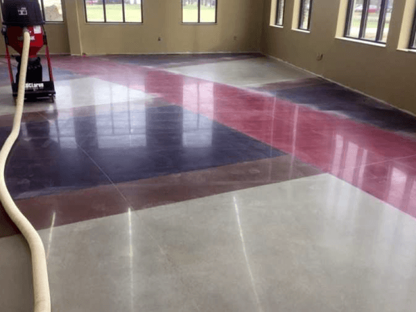 polishing floor system