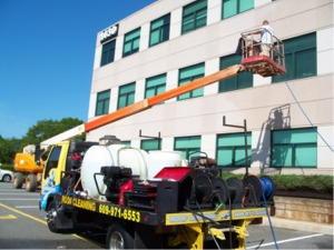 commercial pressure washing, dryvit cleaning and removal , stucco cleaning
