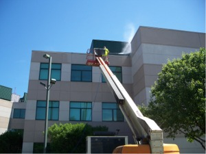Commercial exterior cleaning, painting, pressure cleaning, softwash