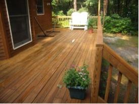 cleaning composite decks, trex, azek, timbertech