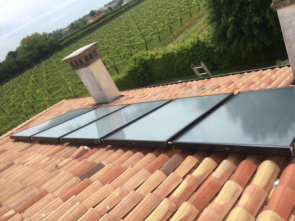 Pannelli solari con integrazione riscaldamento