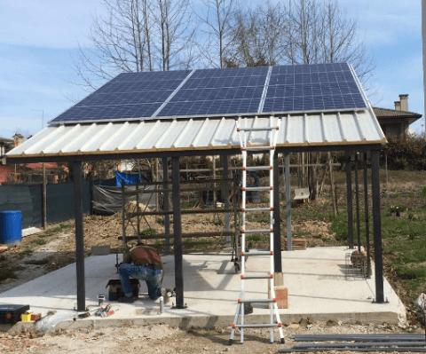 fotovoltaico su tettoia