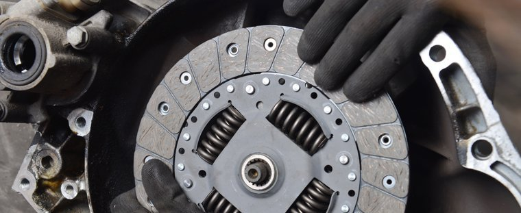 Clutch replacement taking place