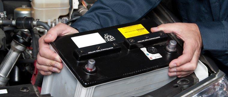 Installation of car battery