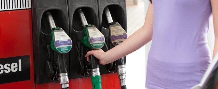 Line of petrol pumps