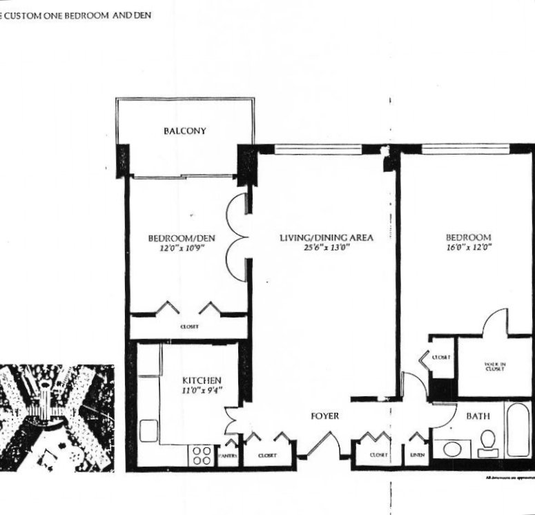 one bedroom with den. Custom One Bedroom and Den  981 Square feet Promenade Towers Bethesda Maryland