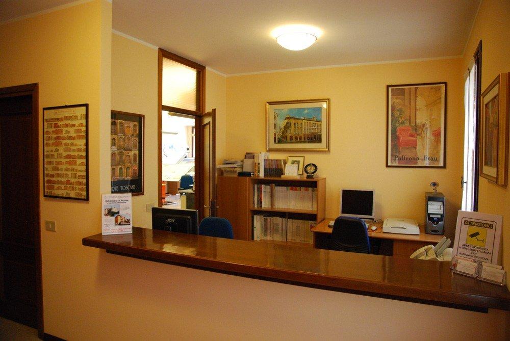 una reception di uno studio