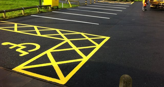 Roads Markings Disabled Access