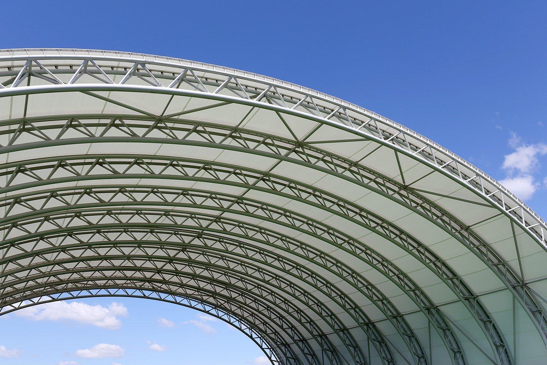 copertura tunnel esterno in acciaio