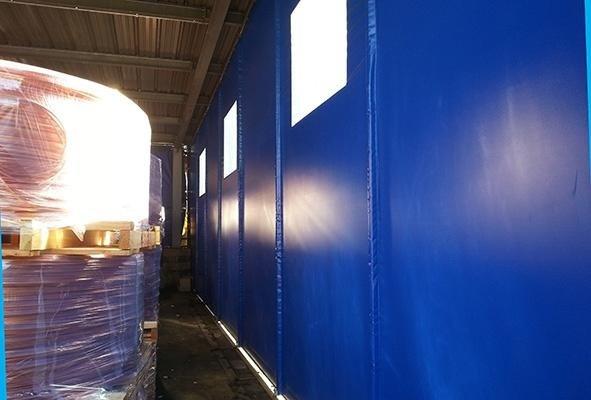 telone blu capannone