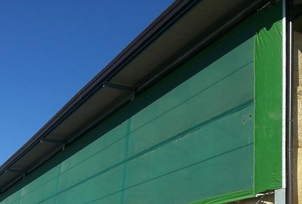 telone verticale verde