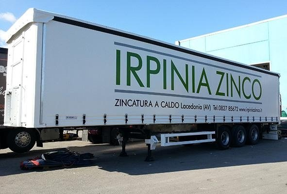 telone per camion a marchio  IRPINIA ZINCO
