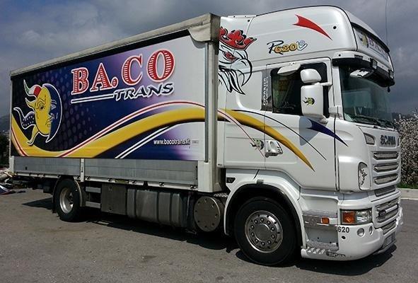 telone per camion a marchio BA.CO TRANS