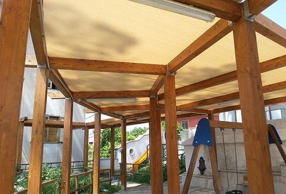 teloni in legno per l`esterno