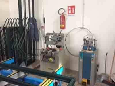 Vista del workshop di lavoro della compagnia