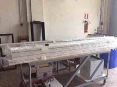 Vista del workshop di lavoro di PVC della compagnia