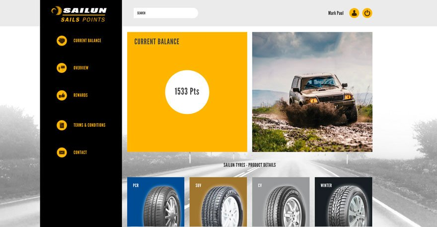 Sailun Tyres advertising material