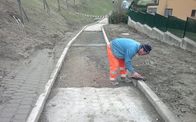 Lavori cantiere in via Nazionale a Pianoro