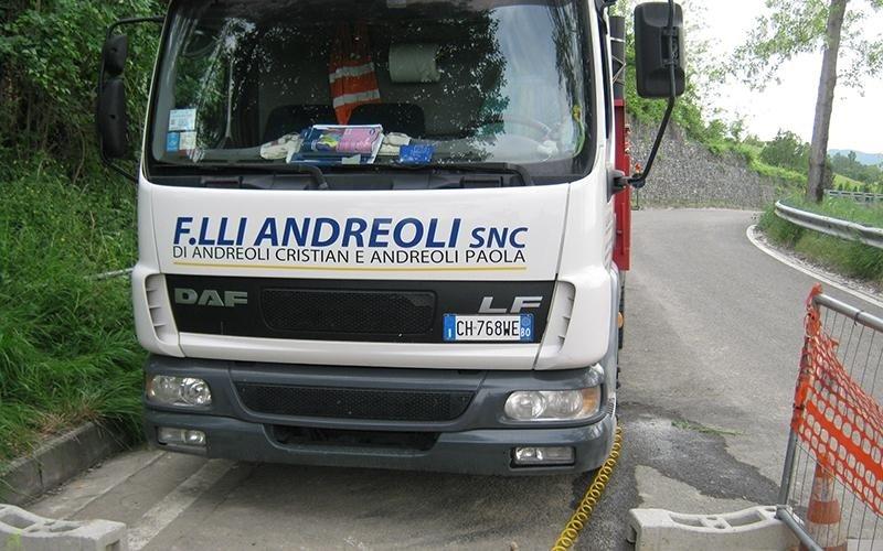 Lavori cantiere in via di Riosto a Pianoro