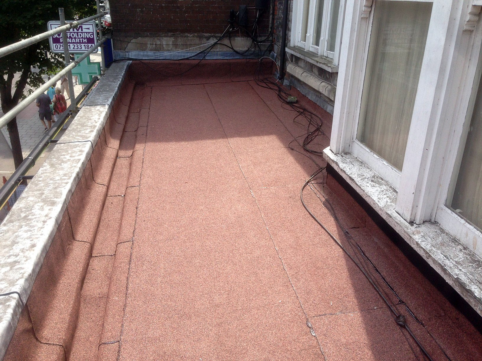 Red felt roofing