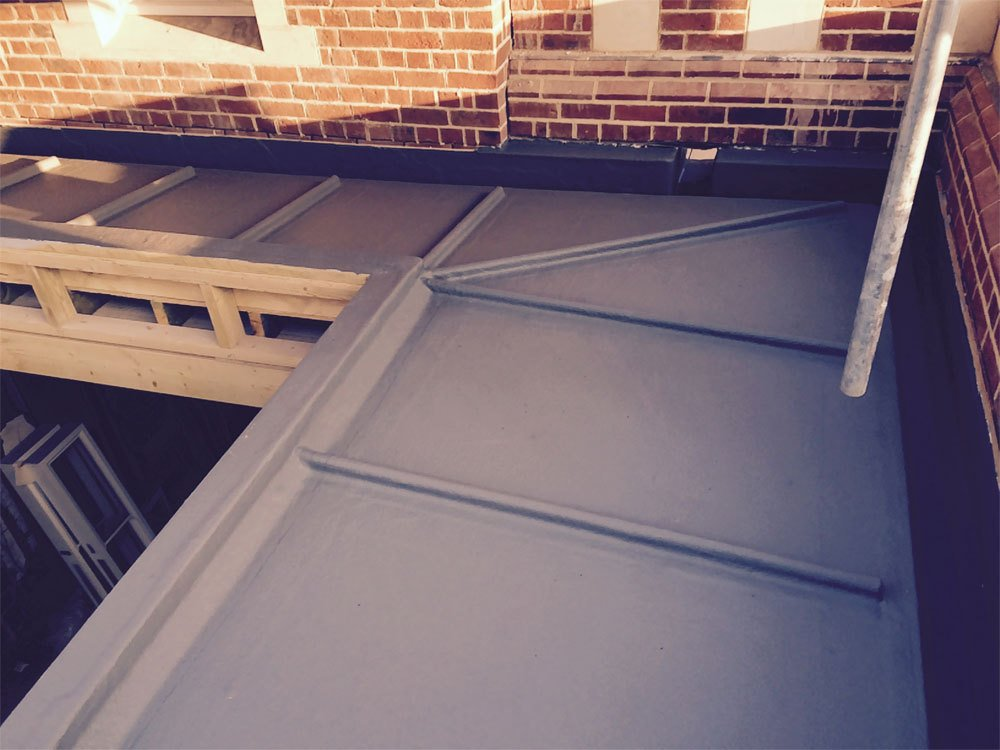 A completed flat roof project