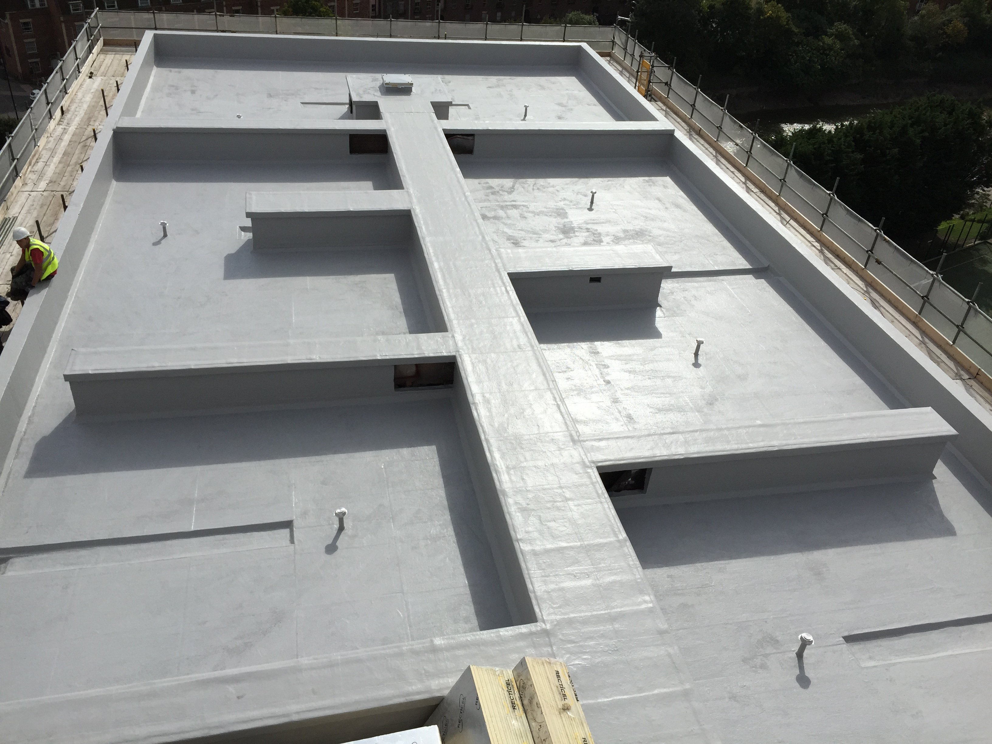 complex grp roof project