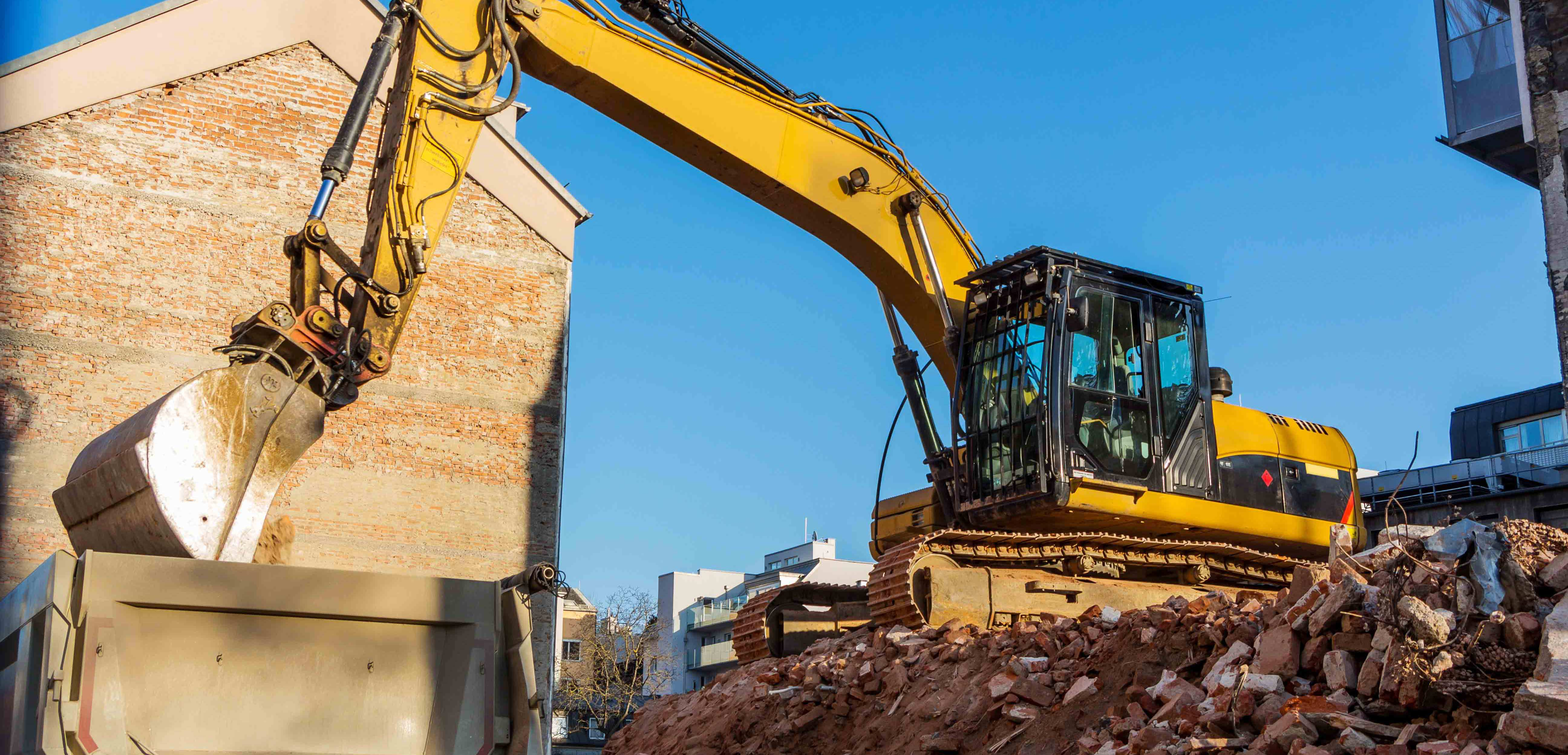 Excavation, Dirt removal and Equipment rental