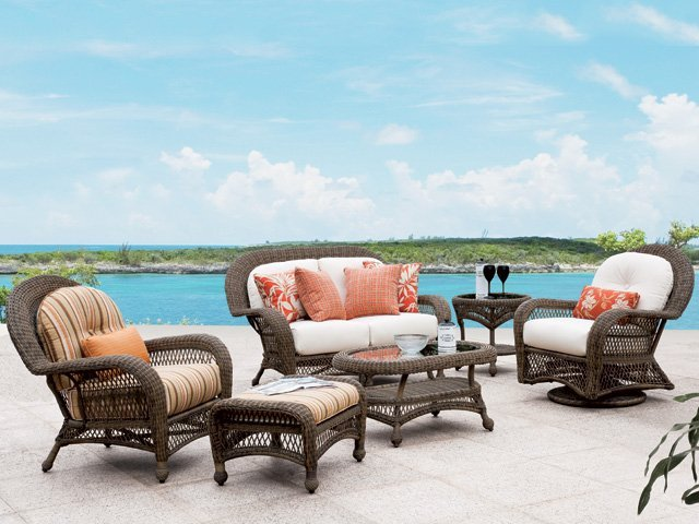 Woven Patio Sets For Your Home Harrow S Serving Long