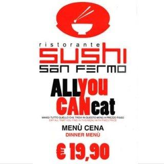 menù cena sushi