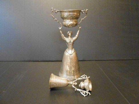 bicchieri di nozze argento