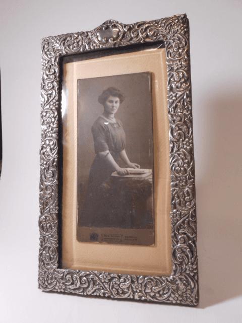 cornice portafoto argento