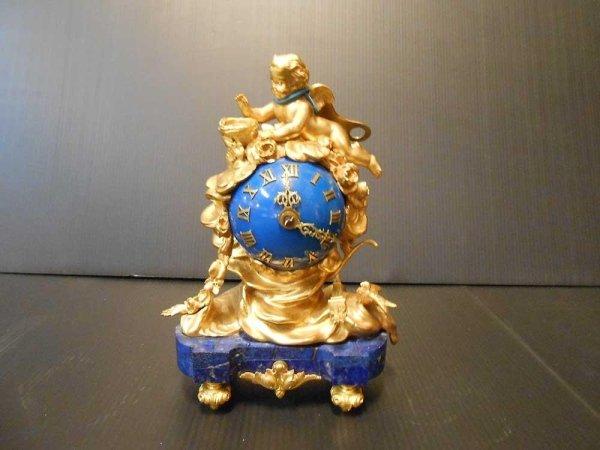 orologio da tavolo in bronzo e smalto