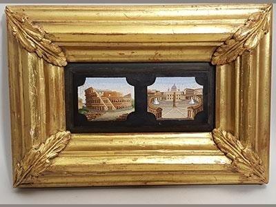 composizione con due famose vedute di Roma