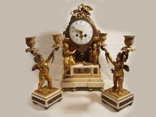 orologio con candelabri