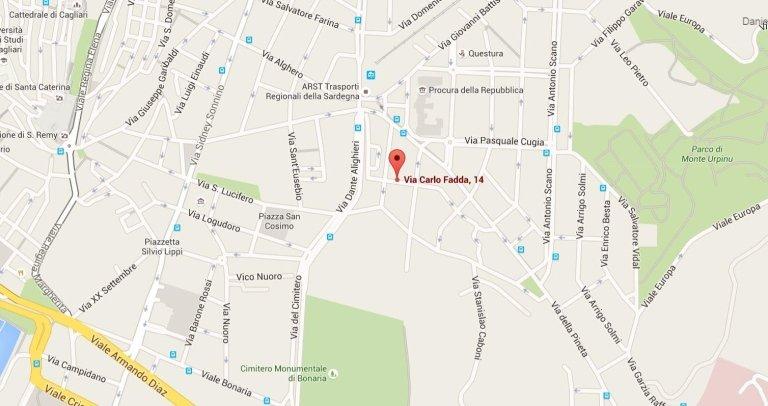 Mappa Studio di Proctologia di Cagliari Gallese Nando