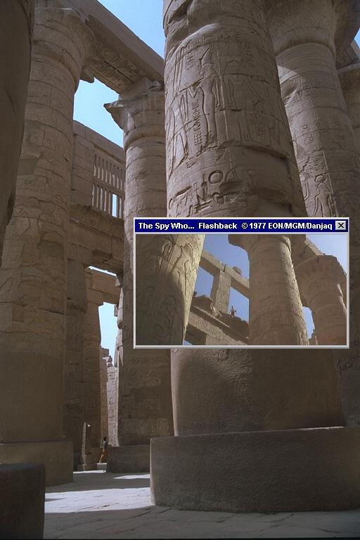 Karnak Temple in Luxor, where Bond and XXX fought with Jaws in The Spy Who Loved Me (1977)