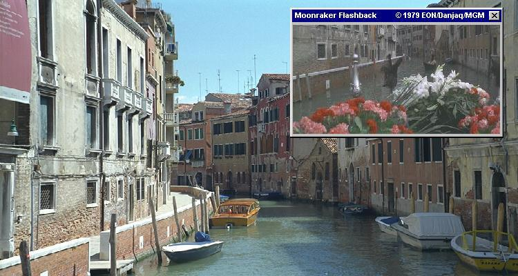 The canals of Venice featured heavily in James Bond's Moonraker (1979)