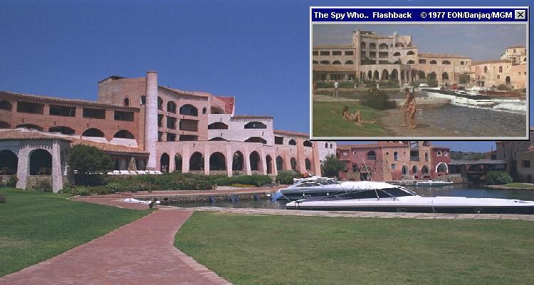 The hotel's private marina