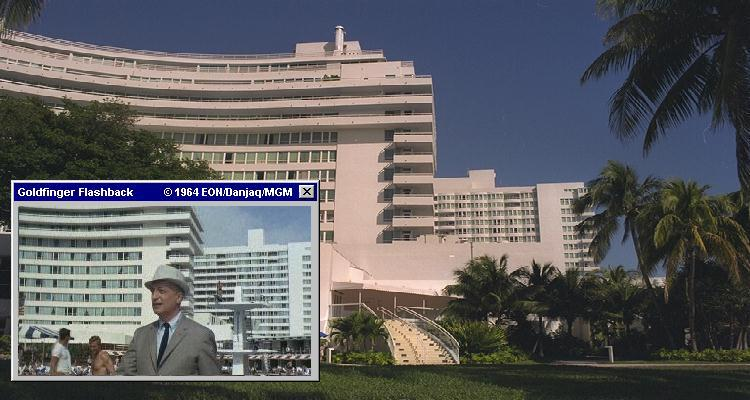 The Fontainebleau was used in long shots and background for the Miami studio filmed scenes in Goldfinger (1964)
