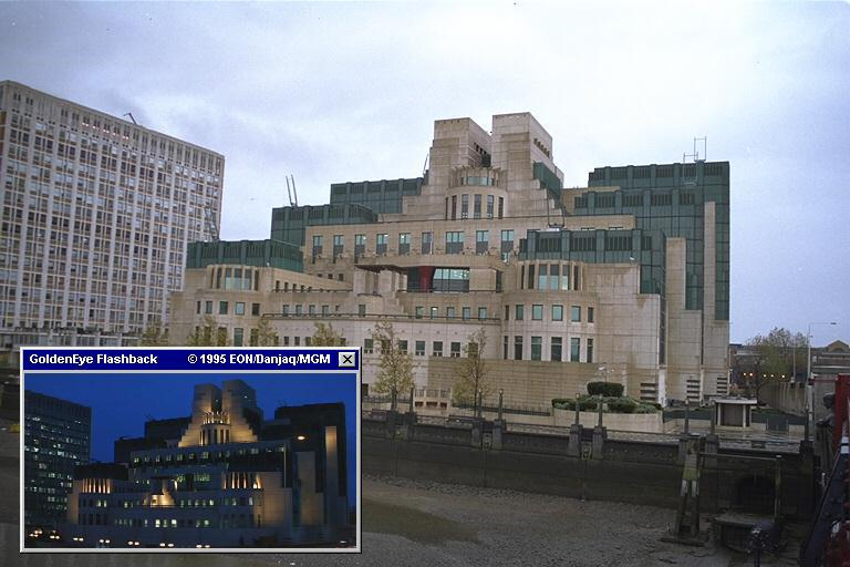 The real MI6 HQ can be seen in many of the later Bond films