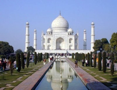 The Taj Mahal, India's most famous landmark