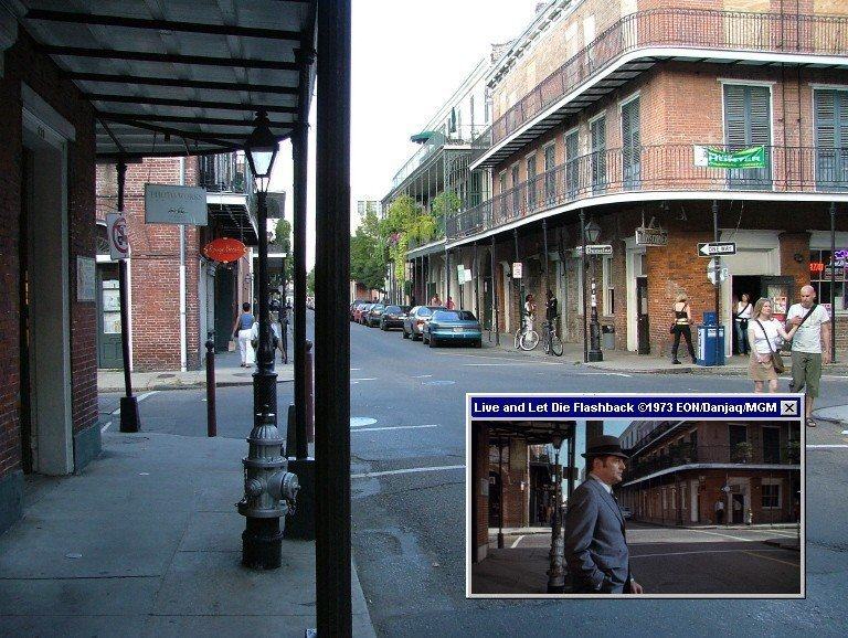 The corner of Chartres and Dumaine played an important part in Live And Let Die (1973)