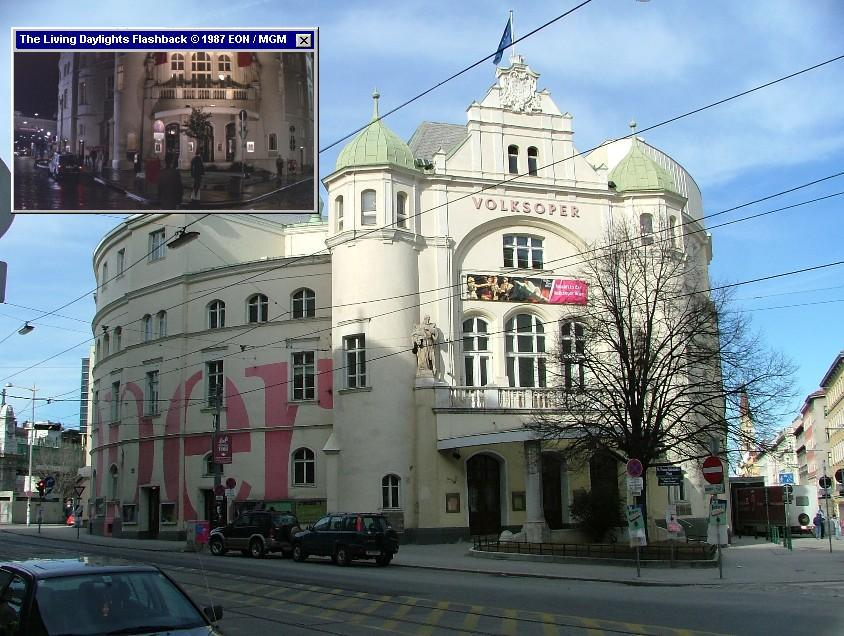The Volkoper, from where Koskov escaped to the West in The Living Daylights (1987)