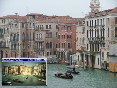 In the Canal Grande you can find the sinking palazzo from Casino Royale (2006)