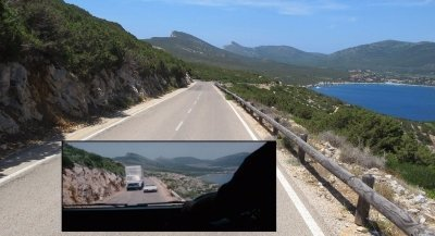While most of the chase sequence was filmed on the East side, this part was filmed on the West side of Sardinia