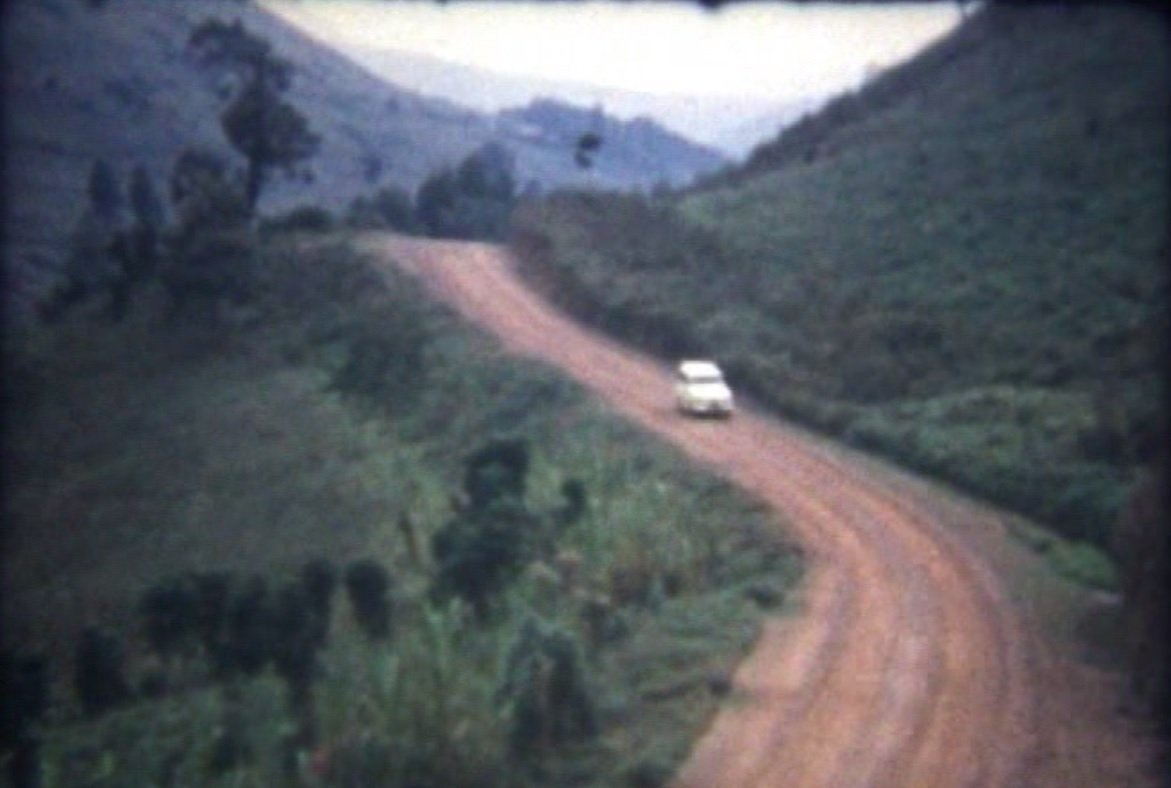 Muddy roads greet this Austin on its way through Uganda