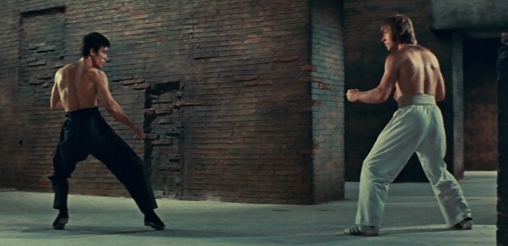 Bruce Lee's epic cinematic fight against Colt (Chuck Norris) remains one of the highlights of both men's careers